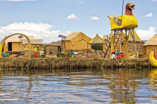 <strong>Плаващите острови на езерото Титикака, Перу</strong>